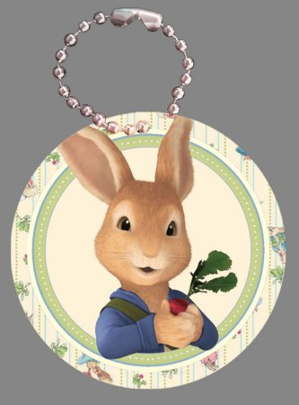 Tag com Correntinha 5 x 5 cm Peter Rabbit