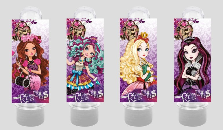 Adesivo de Tubete Ever After High