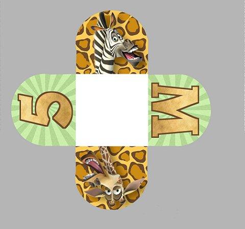 Caixeta para Doces personalizada Madagascar