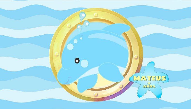 Adesivo personalizado para Bolinha de Sabão Fundo do Mar