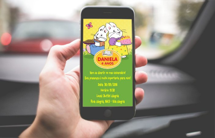 Convite personalizado para WhatsApp Max e Ruby