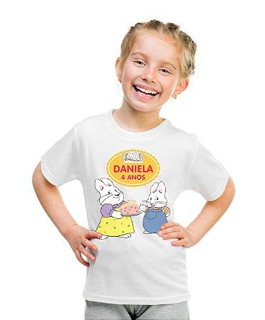 Camiseta Infantil Max e Ruby