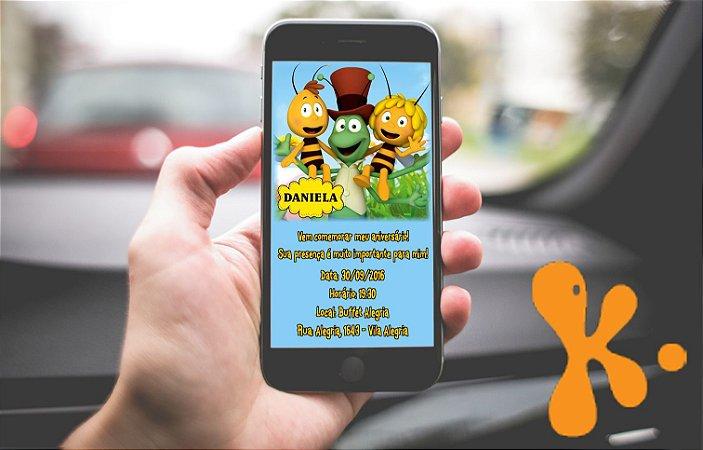 Convite personalizado para WhatsApp A Abelha Maia