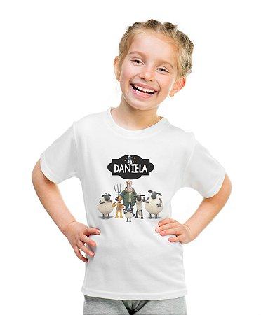 Camiseta Infantil Shaun. o Carneiro