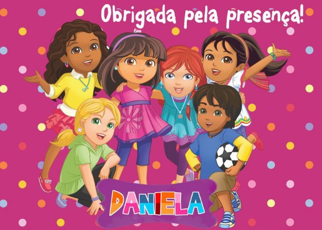 Cartão de Agradecimento Dora e Seus Amigos na Cidade