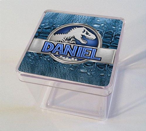 Adesivo caixinha acrílica 7x7 Jurassic World Dinossauro