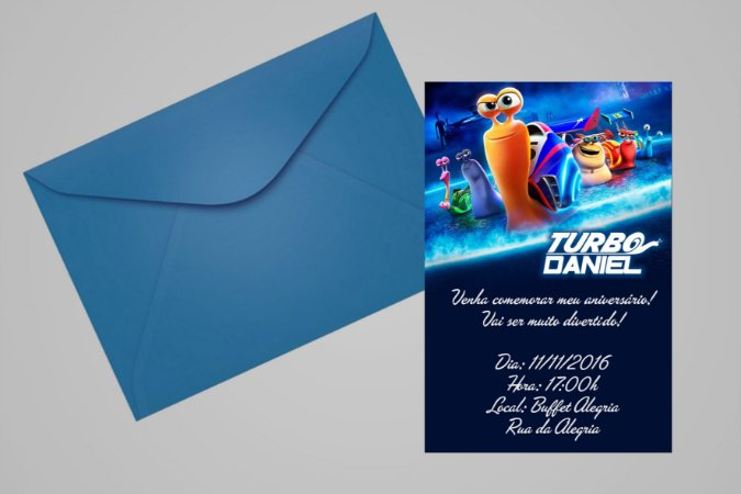 Convite 10x15 Turbo Fast 006