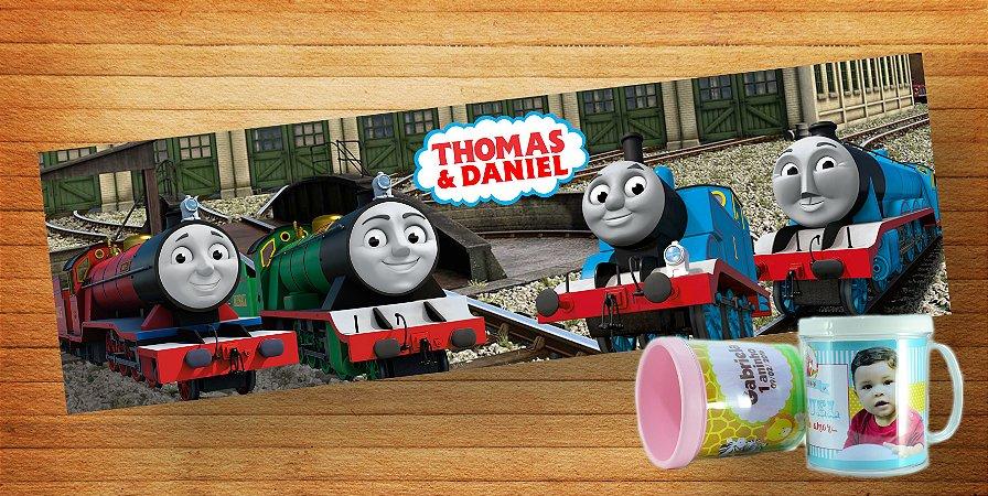Rótulo para caneca de acrílico Thomas e Seus Amigos