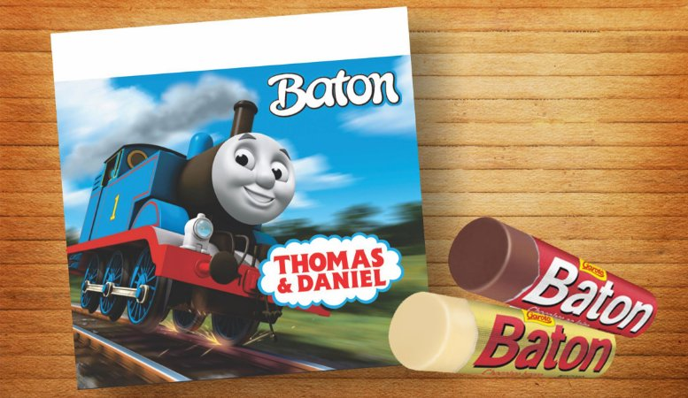Rótulo Adesivo para Batom Thomas e Seus Amigos