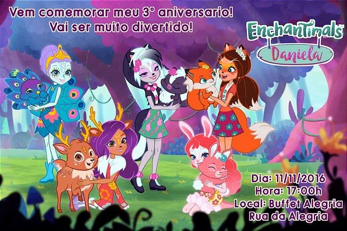 Convite digital personalizado Enchantimals 001