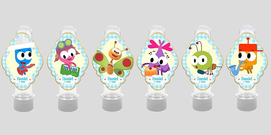 Embalagem com 24 apliques para Tubete Baby TV Choopies