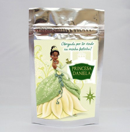 Saco metalizado Princesa Tiana - Princesa e o Sapo