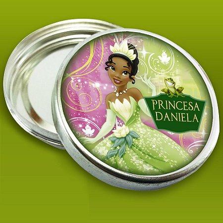 Latinha de aluminio 7 cm Princesa Tiana - Princesa e o Sapo