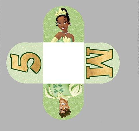 Caixeta para Doces personalizada Princesa Tiana - Princesa e o Sapo