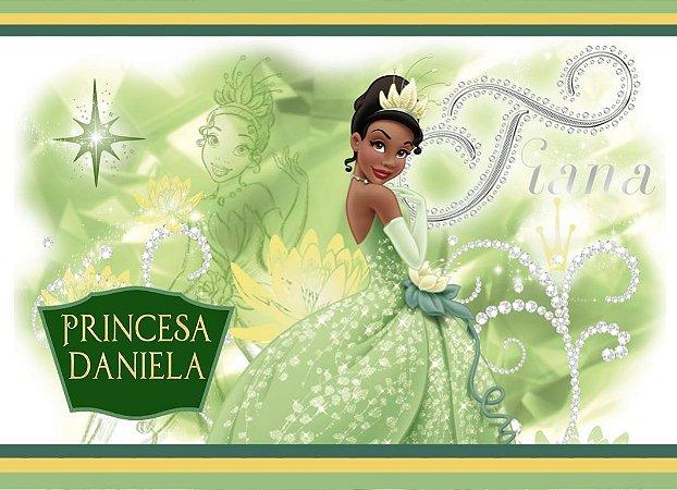 Adesivo personalizado para Bolinha de Sabão Princesa Tiana - Princesa e o Sapo