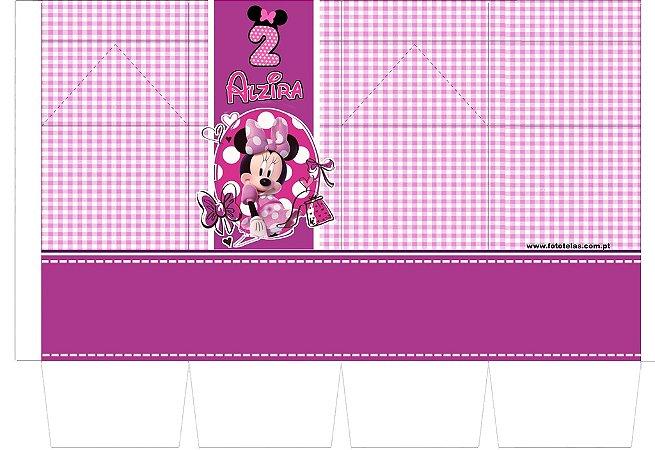 Caixa milk personalizada da Minnie