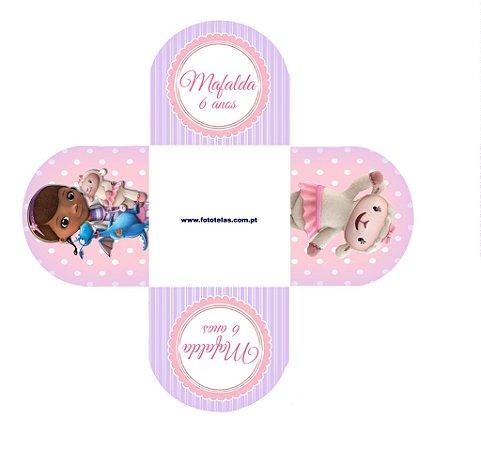 Arte para forminha personalizada para doces Doutora Brinquedos