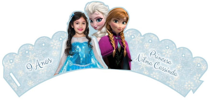 Pacote com 6 Wrappers personalizados Frozen om foto