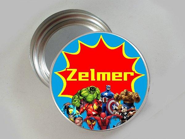 Embalagem com 20 adesivos Super Herois 002