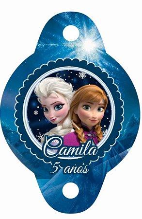 Tag para canudinho personalizada Frozen