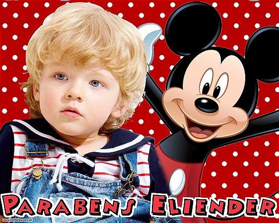 Banner ou Painel personalizado Mickey com foto