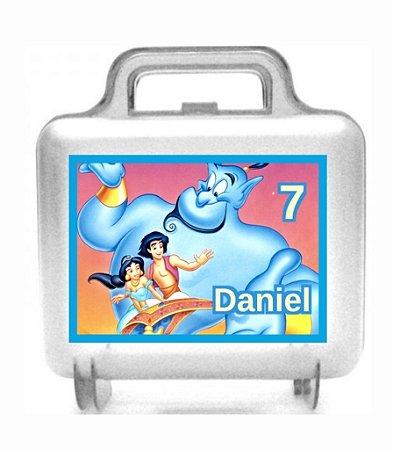 Arte personalizada para maletinha quadrada Aladdin