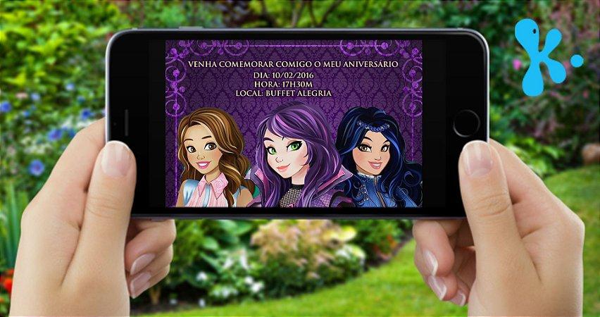 Convite digital personalizado Descendentes 001