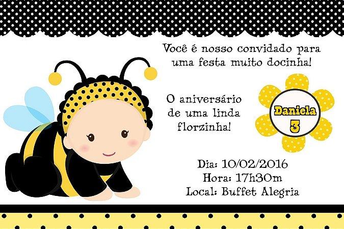 Convite digital personalizado Abelhas 001