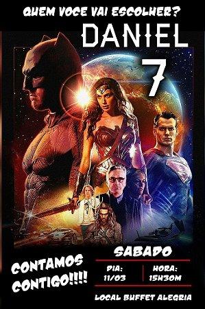 Convite digital personalizado Batman Vs Superman 006