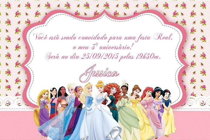 Convite digital personalizado Princesas Disney 010