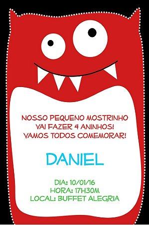 Convite digital personalizado Monstrinhos 003