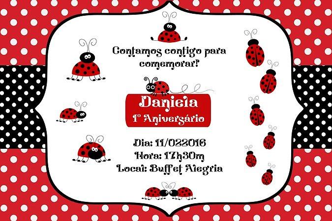 Convite digital personalizado Joaninha 001