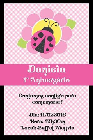 Convite digital personalizado Joaninha 012