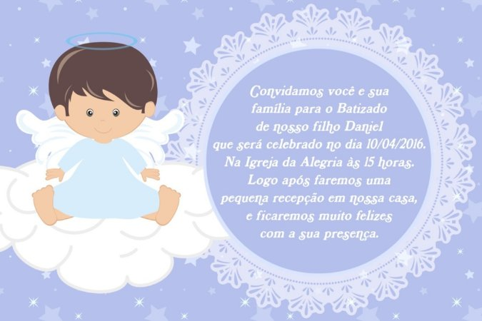 Convite digital personalizado Anjos 006