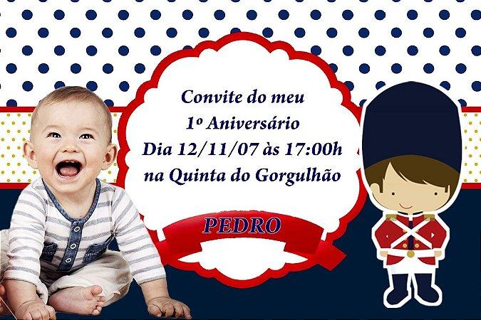 Convite digital personalizado Soldadinho de Chumbo com foto 001