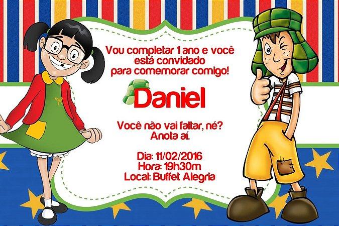 Convite digital personalizado Chaves 002