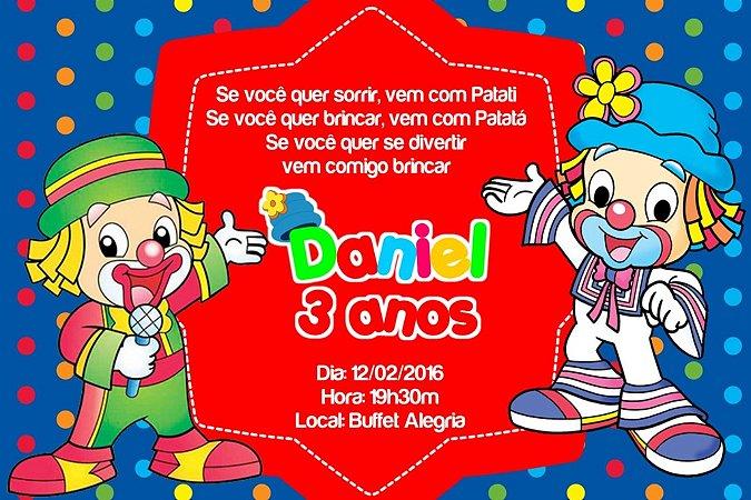 Convite digital personalizado Patati Patata 006
