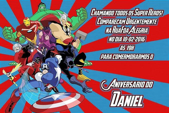 Convite digital personalizado Vingadores 004