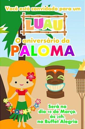 Convite digital personalizado Luau 008
