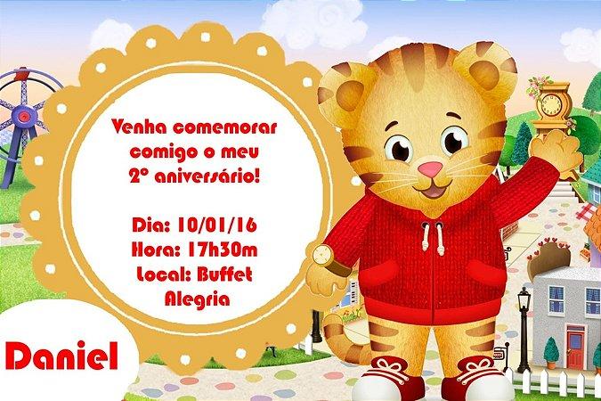 Convite digital personalizado Daniel Tigre 001