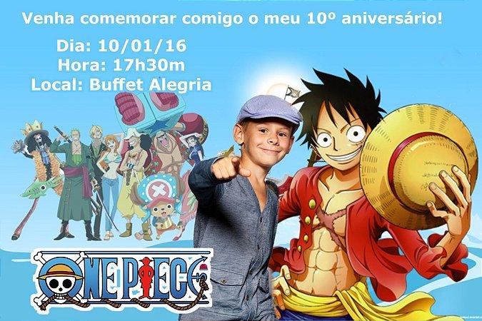 Convite digital personalizado One Piece com foto 003