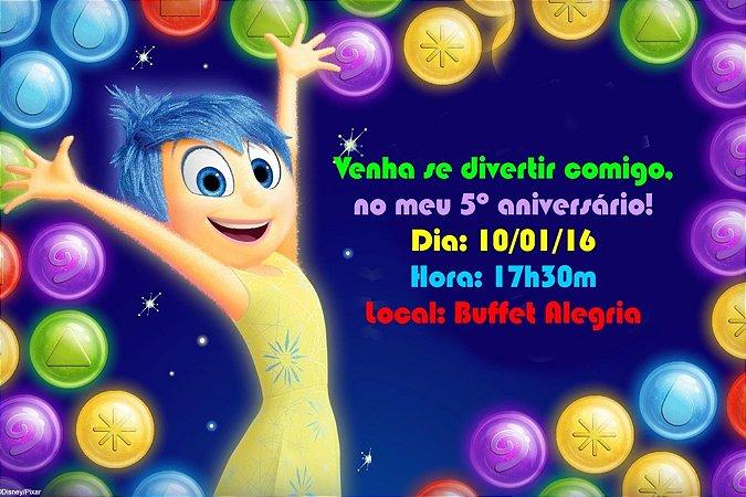 Convite digital personalizado Divertida Mente 004