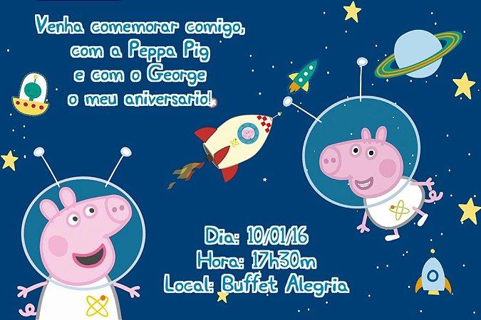 Convite digital personalizado Peppa Pig 006
