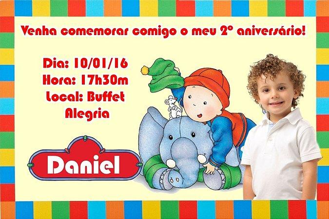 Convite digital personalizado Caillou com foto 007