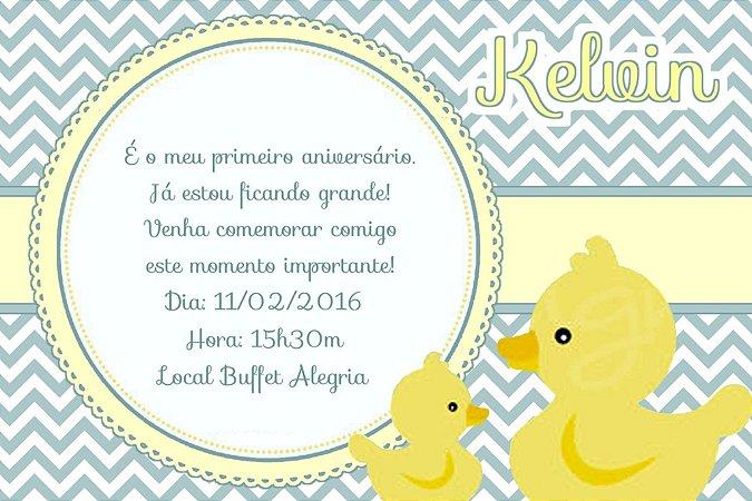 Convite digital personalizado Patinho Amarelinho 003