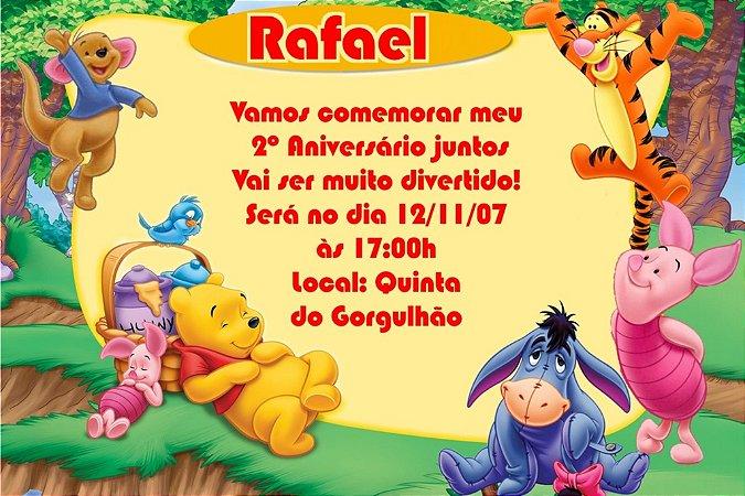 Convite digital personalizado Ursinho Pooh 013