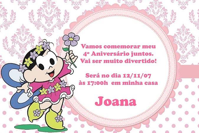 Convite digital personalizado Turma da Mônica 022