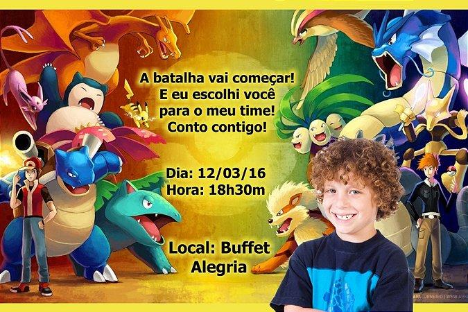 Convite digital personalizado Pokemón com foto 003