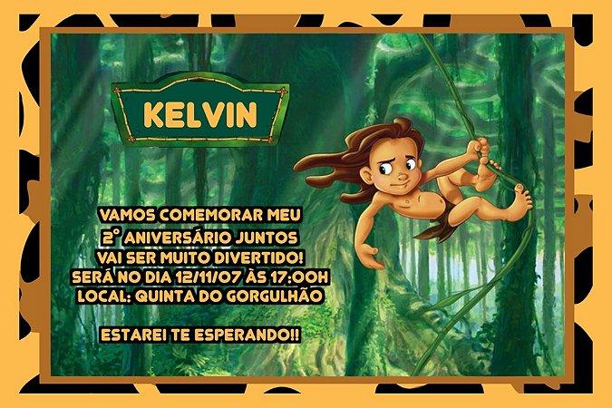 Convite digital personalizado Tarzan 006