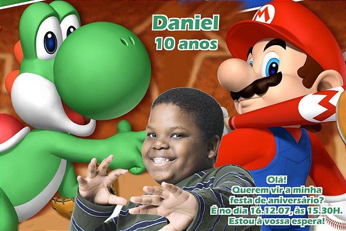 Convite digital personalizado Super Mario com foto 004
